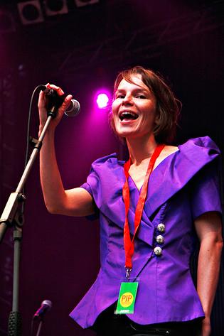 2008-08-02 - Anna Järvinen performs at Putte i Parken, Karlskoga